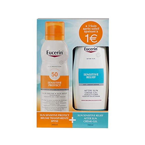 Eucerin Sun Schutz Sun Mist SPF 50 200 ml + Sensitive Relief After Sun crème-gel 150 ml -