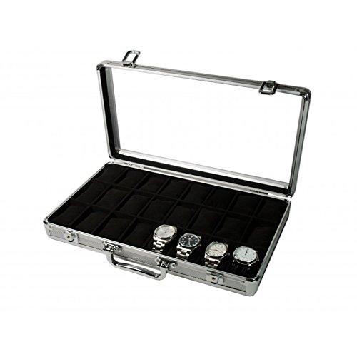 b73ee6d45 Vitrina guarda 24 relojes en aluminio – Relojesmuyespeciales.com