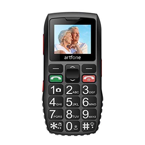 """GSM Seniorenhandy einfach 2G Mobiltelefon Senioren Handy Rentner Tastenhandy große Tasten 1.77"""" Bildschirm SOS Funkion Kurzwahl Großtastenhandy für Alter oder Kinder und mehr"""