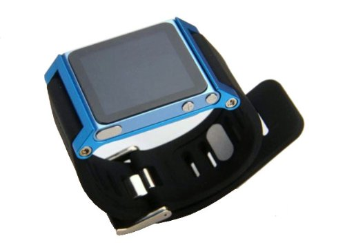 ZSTX Multi-Touch Aluminium-Armband Tasche für Apple iPod nano 6. Generation 8GB 16GB (OEM) (Blau) Apple Ipod Nano 8 Gb
