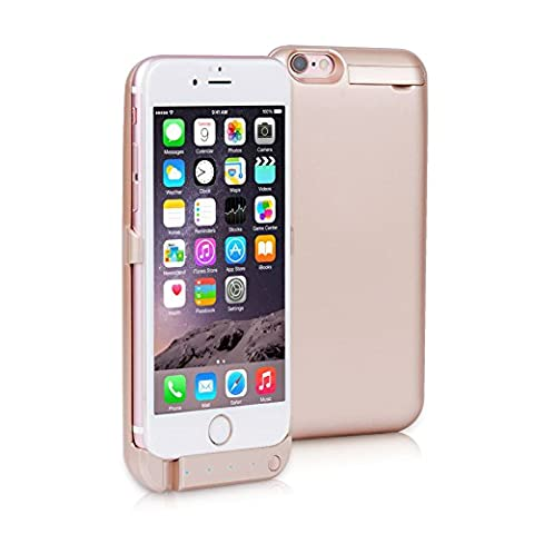 iPhone 6/6S Plus Battery Charger Case - 10000Mah Backup Battery Power Case External Detachable Power Bank Battery Charger Pack With Lightning Connector Output & Click Stand & LED indicators By Noza Tec - Gold