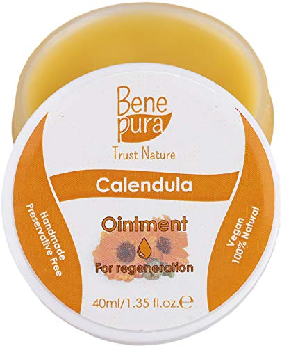 Unguento naturale con calendula da 20 ml, estratto di olio freddo, 100% naturale - aiuta per ferite, lividi, bruciature - concentrato puro della natura - fatto a mano nell'UE