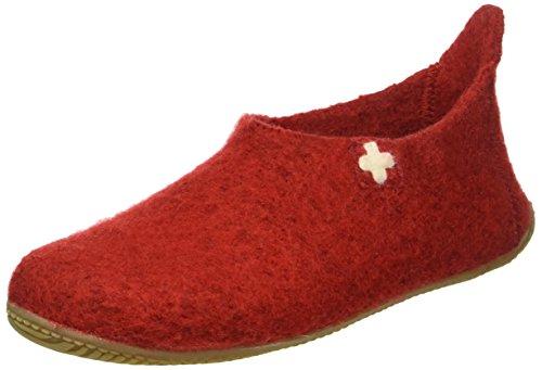 Living Kitzbühel Slipper Schweizer Kreuz, Ciabatte Unisex-Adulto Rot (Rot 350)