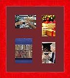 Inconnu Cadres Photos pêle mêle multivues Bordeaux 1 Photo(s) 15x10 and 2 Photo(s) 10x15 and 1 Photo(s) 13x18 Passe Partout, Cadre Photo Mural 38x43 cm Galerie Rouge Brillant, 4 cm de Largeur