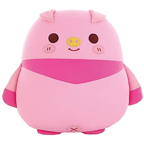 Kid Birthday Gift Animal Nano Foam Particle Pillow Doll Lion Owl Tattoo Soft Toy, Pink(Pig)