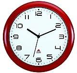 Alba, Orologio da Parete con meccanismo Silenzioso, Rosso (Rot)