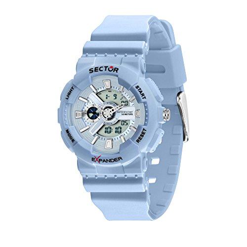 Sector NO Limits Reloj Analógico-Digital para Hombre de Cuarzo con Correa en Plástico R3251515003