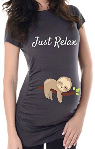 Anthrazit Just Relax, 42, Umstands T-Shirt/Schwangerschafts T-Shirt, B