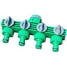 tolako 3/4tubo da giardino tubo acqua valvola Splitter 4Vie Tubo Connettore per casa, Prato e giardino, Agricola e uso commerciale