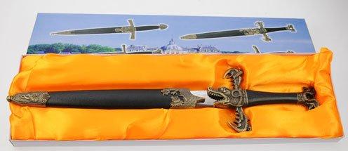 Athame,  Wikinger Dolch, dagger, Seeschlange mit Scheide, Drachen, Schlangen