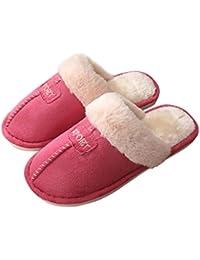 Laus Pantuflas Estilo Mule de Mujer, Zapatillas de Estar por casa comodas y Antideslizantes,