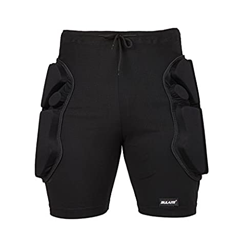 Suplyss Padded Shorts, Unisex Protective Shorts Protective Sports Equipment Protective Hip Pants for Snowboard, Skiing, Motocross (M)