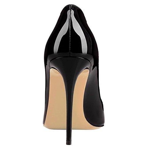 EDEFS Damen Spitze Zehen Süß Herz-geformt Stiletto Pumps Elegant Heel Party Schuhe Black
