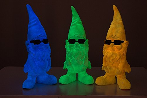 "be4To®GARTENZWERG""GLOW IN THE DARK"" XXL 30 CM (Blau) - 4"