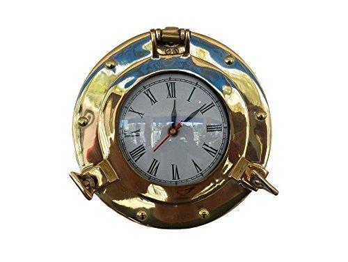 Brass Porthole Clock 8