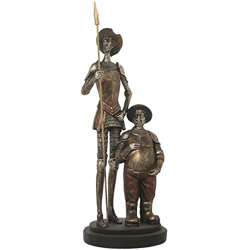 DRW Figure of Don Quixote and Sancho Panza standing and 14x14x37cm