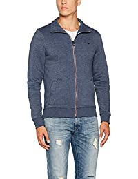 Tom Tailor Basic Stand-Up Sweatjacket, Sweat-Shirt Homme
