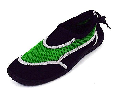 Herren Surfschuhe Aquaschuhe Badeschuhe Bootsschuhe grün,blau,rot Grün