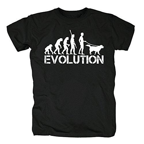 TSP Perro evolución Camiseta para Hombre T-Shirt S Negro