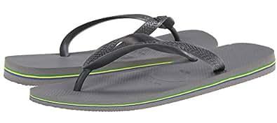Havaianas Brasil Grey Mens New Summer Beach Flip Flops-41