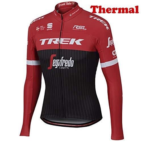 ORD Herren Fahrrad Trikot MTB Fahrradbekleidung Fahrradtrikot Radsport Radfahren Winter Thermal Langarm Radjacke Jacke Größe 5XL