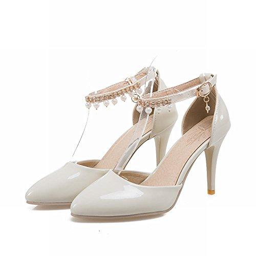 MissSaSa Donna Scarpe col Tacco Alto Elegante e Sexy avorio(beige)