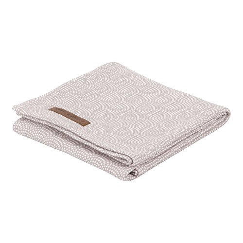 LITTLE DUTCH 3739 Muslin Swaddle Tuch / Pucktuch - mauve waves Gr. 120x120 cm