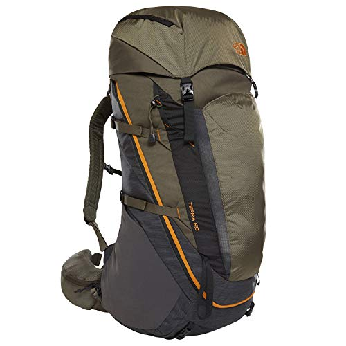 THE NORTH FACE Terra 65 Rucksack, tnfdarkgryhtr/newtaupegrn, L/XL