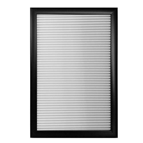 M&H-24 Letter Board A4 Retro Letter Tableau mémo avec Lettres et Chiffres Noir ou Blanc 30 x 20 cm, Plastique, Weiß, 1