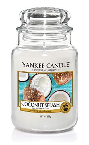 Yankee Candle–Coconut Splash Classique Signature Bocal Grande 623g–Sûr pour Correspondance Box