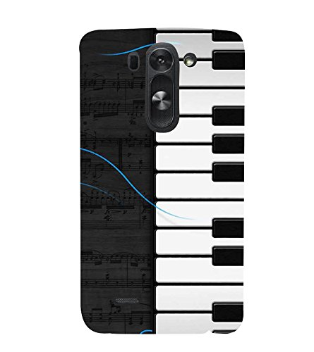 Fiobs Designer Back Case Cover for LG G3 Mini (Piano Keys Keyboard Casio Black White)  available at amazon for Rs.380