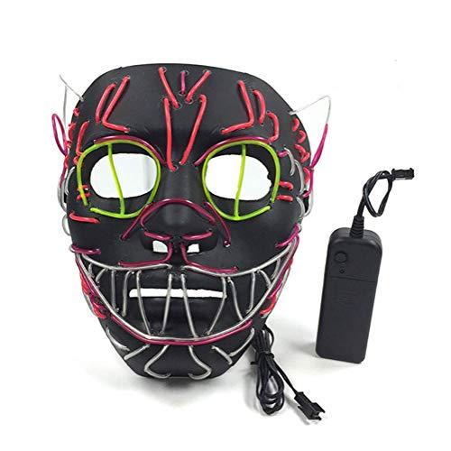 Peiyu Leuchtende Maske Halloween Elvis Light Mask für (Home Elvis Kostüm)