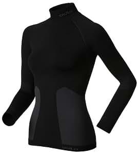 Odlo Damen Shirt Long Sleeve Turtle Neck Evolution Warm, Black, L, 180951