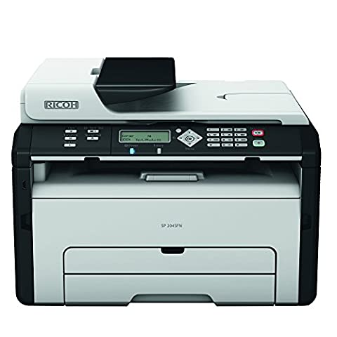 Ricoh SP 204SFN Multifunktionsgerät (Kopierer, Drucker, Scanner, Fax, USB 2.0) grau