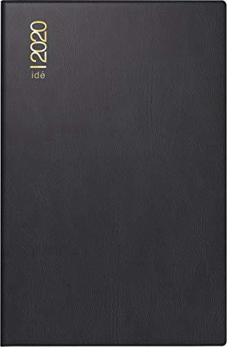 rido/idé 701100290 Taschenkalender partner/Industrie I (2 Seiten = 1 Woche, 72 x 112 mm, Kunststoff-Einband, Kalendarium 2020) schwarz (Schwarz Kunststoff Leichter)