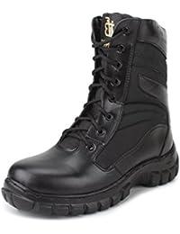ARMSTAR Men's Black Combat Boots - 10 UK
