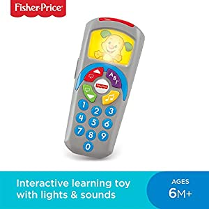 Fisher-Price 887961256321 Laugh and Learn Puppy's Remote, Electronic Educational Toddler Toy with Music, Lights, Colours and Phrases, Suitable for 6 Months Plus 9