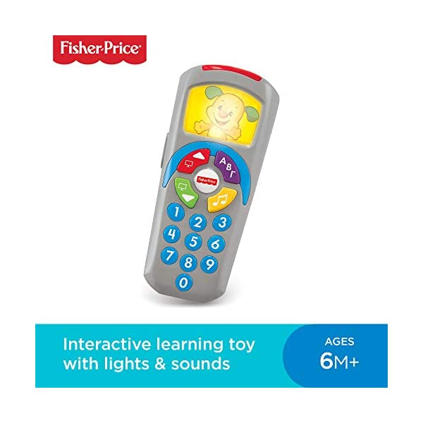 Fisher-Price 887961256321 Laugh and Learn Puppy's Remote, Electronic Educational Toddler Toy with Music, Lights, Colours and Phrases, Suitable for 6 Months Plus 1