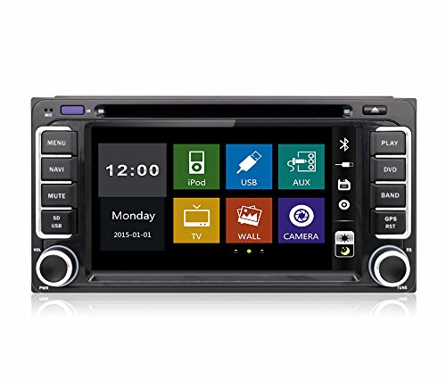 15,7 cm-INDASH Auto DVD-Player mit BT/TV, USB/SD AUX, Audio Radio Stereo, Car Multimedia Haupteinheit für Toyota Corolla CAMRY Previa VIOS HILUX Prado Cruiser 2008 2009 2010 2011 2012 (2012 Stereo-toyota Corolla)