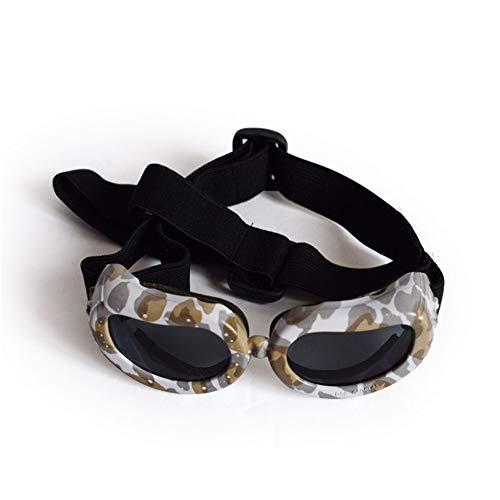 Pettneeds-Pet goggles Winddichte Schutzbrille für Haustiere Hundebrille für UV-Schutz Sonnenbrillen Winddicht mit verstellbaren Band für Welpen Doggy Cat (Farbe : Camouflage)