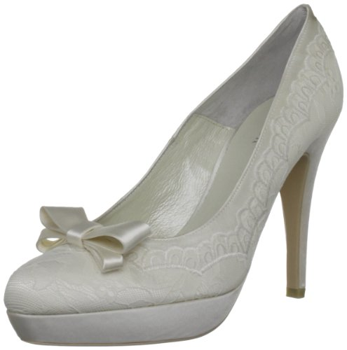 Menbur Wedding Troya 5115, Damen Pumps, Elfenbein (Ivory 04), EU 36