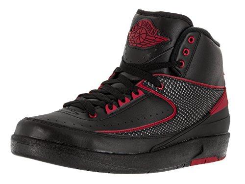 Nike Herren Air Jordan 2 Retro Basketballschuhe, Talla Black (Schwarz / Varsity Red)