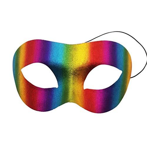 Vovo Mode Demi Visage Mardi Gras Mascarade Masque Masques vénitiens pour Carnaval Bal Bal Fantaisie Robe Halloween Partie Fournitures - Masque à moitié Le Visage - Halloween