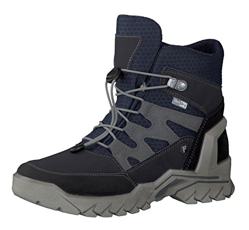 RICOSTA Jungen Winterstiefel KULM 9631300,Kinder Winter-Boots,Fellboots,Fellstiefel,gefüttert,warm,wasserdicht,Weite Weit,See/Ozean, EU 37