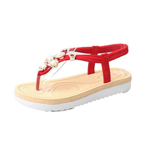 Bovake Sandales Pour Femme Or Doré 38 CN red