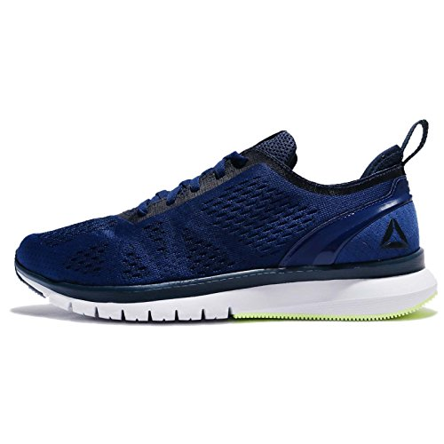 Reebok Print Smooth Clip Ultk, Chaussures de Running Compétition Homme Bleu (Deep Cobalt/coll Navy/electric Flash/wht/pwtr)