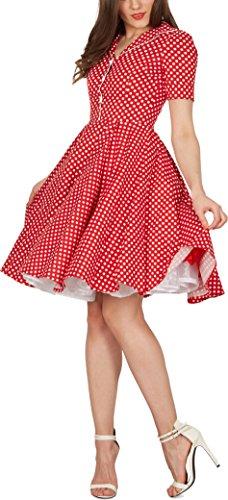 'Sabrina' Vintage Polka-Dots Kleid im 50er-J-Stil - 4