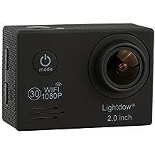 lightdow LD6000FHD 1080P WIFI azione sport fotocamera e Kit di accessori con bonus ricaricabile–Novatek NT96655+ 2.0LCD + obiettivo grandangolare 170°