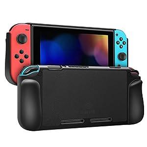 Fintie Hülle für Nintendo Switch – Kunstleder Coated Hard Shell Schutzhülle Hartschale mit Anti-Rutsch-Beschichtung für Nintendo Switch und Joy-Con Controller
