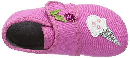 Living Kitzbühel - Baby Klett, Pantofole Bimba 0-24 Rosa (Pink)